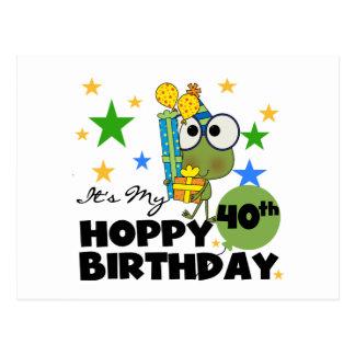 Cumpleaños de lúpulo de Froggie 40.o Postal