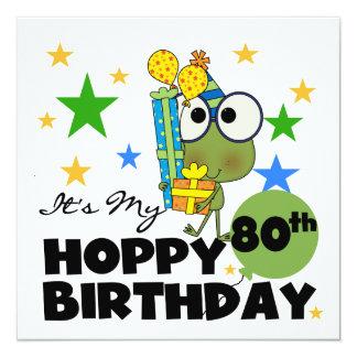 Cumpleaños de lúpulo de Froggie 80.o Comunicados Personalizados
