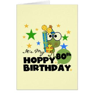 Cumpleaños de lúpulo de Froggie 80 o Felicitación