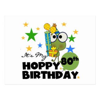 Cumpleaños de lúpulo de Froggie 80.o Postal