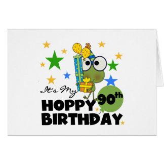 Cumpleaños de lúpulo del Froggy 90 o Felicitaciones