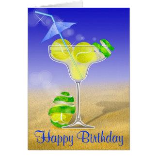 Cumpleaños de Margarita del tenis feliz Tarjeta De Felicitación