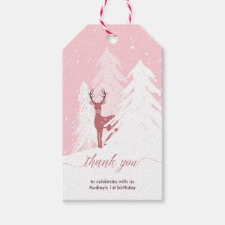 Cumpleaños de Onederland del invierno el primer le Etiquetas Para Regalos