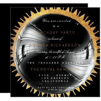 Cumpleaños de oro Bachelorette de la mariposa del Invitación 13,3 Cm X 13,3cm