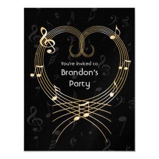 Cumpleaños de oro personalizado de las notas invitación 10,8 x 13,9 cm