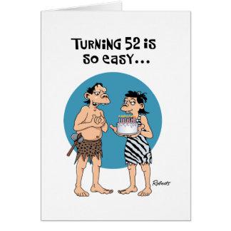 Cumpleaños de torneado 52 tarjeta de felicitación