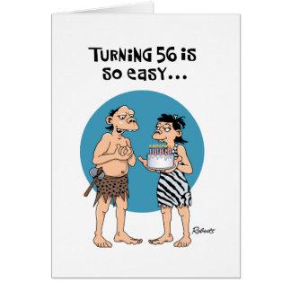 Cumpleaños de torneado 56 tarjeta de felicitación