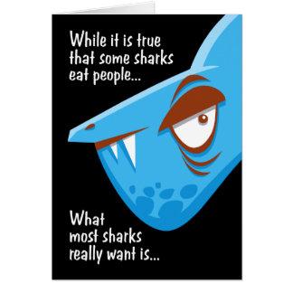 Cumpleaños del ataque del tiburón tarjeta