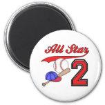 Cumpleaños del béisbol de All Star 2do Imán Para Frigorifico