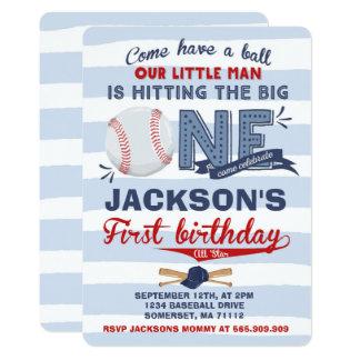 Cumpleaños del béisbol de la invitación del