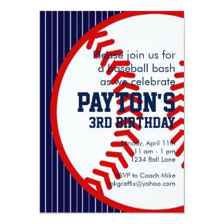 Cumpleaños del béisbol invitación 12,7 x 17,8 cm