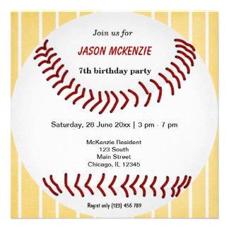 Cumpleaños del béisbol comunicados personalizados