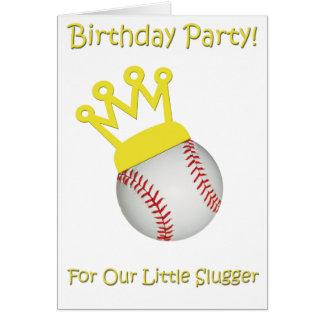 Cumpleaños del béisbol tarjeta de felicitación