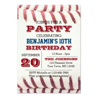 Cumpleaños del béisbol toda la invitación de la