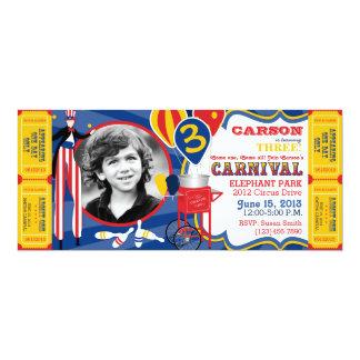 Cumpleaños del caminante del zanco del circo del invitación 10,1 x 23,5 cm