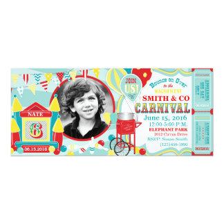 Cumpleaños del carnaval de la casa de la despedida invitación 10,1 x 23,5 cm