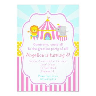 Cumpleaños del carnaval del circo del top grande invitación 12,7 x 17,8 cm