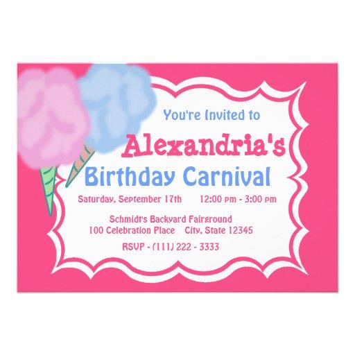 Cumpleaños del carnaval invitacion personalizada
