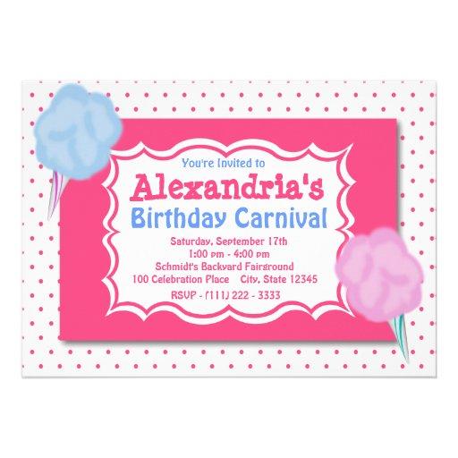 Cumpleaños del carnaval invitación personalizada