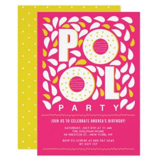 Cumpleaños del chapoteo de la fiesta en la piscina invitación 12,7 x 17,8 cm