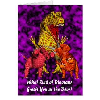 Cumpleaños del dinosaurio tarjetón