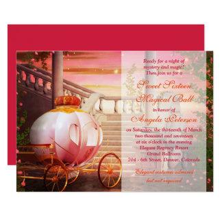 Cumpleaños del dulce 16 de la bola de la fantasía invitación 12,7 x 17,8 cm