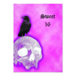 Cumpleaños del dulce 16 de la fantasía del gótico invitación 12,7 x 17,8 cm