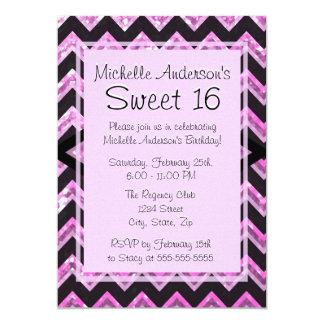 Cumpleaños del dulce 16 invitación 12,7 x 17,8 cm