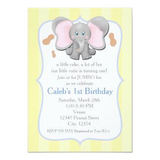 Cumpleaños del elefante del bebé o invitación