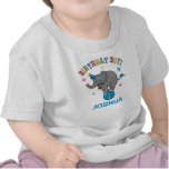 Cumpleaños del elefante del circo 1r camiseta