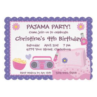 Cumpleaños del fiesta de pijama