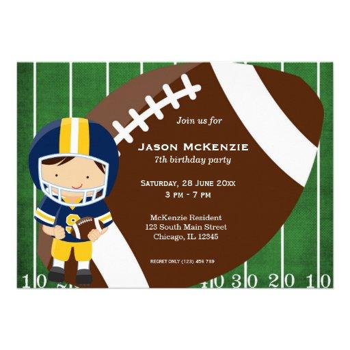 Cumpleaños del fútbol invitacion personalizada