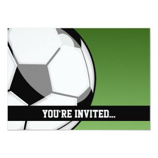 Cumpleaños del fútbol invitación 12,7 x 17,8 cm