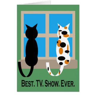 Cumpleaños del gato tarjeta de felicitación