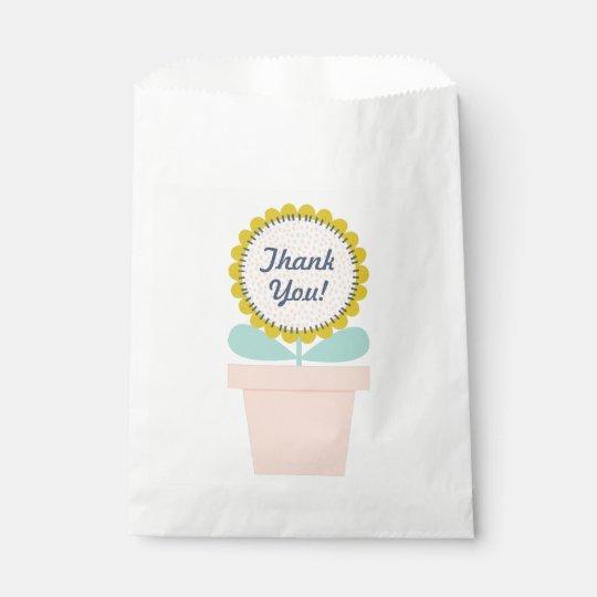 Cumpleaños del girasol bolsa de papel