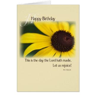 Cumpleaños del girasol, religioso tarjeta de felicitación