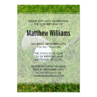 Cumpleaños del golf invitación 12,7 x 17,8 cm