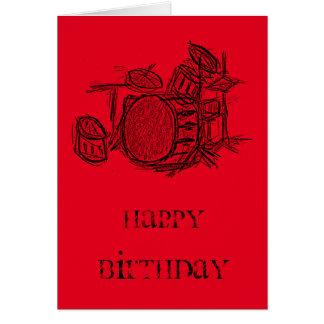 Cumpleaños del grunge de la banda de rock de la tarjeta de felicitación
