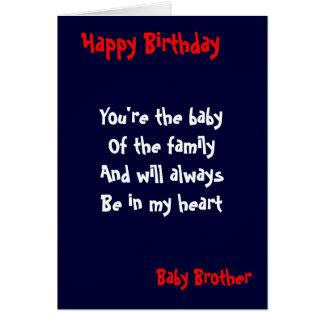 Cumpleaños del hermano del bebé felicitación