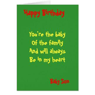 Cumpleaños del hijo del bebé felicitaciones