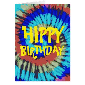 Cumpleaños del hippy tarjeta