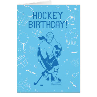 ¡Cumpleaños del hockey! Tarjeta de felicitación -