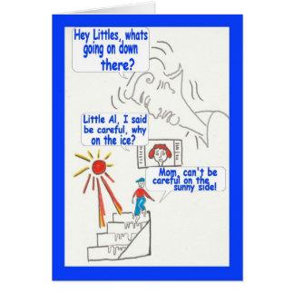 Cumpleaños del humor divertido del dibujo animado tarjeta de felicitación