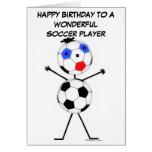 Cumpleaños del jugador de fútbol tarjeta