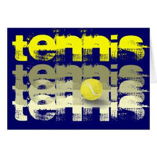 Cumpleaños del jugador de tenis tarjeta de felicitación