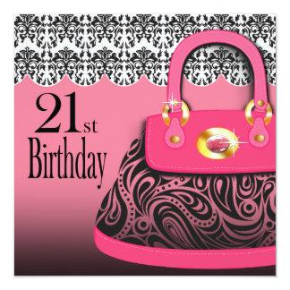 Cumpleaños del monedero de Paisley del bolso del Invitación 13,3 Cm X 13,3cm