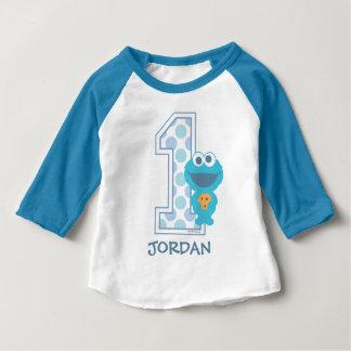 Cumpleaños del monstruo de la galleta del Sesame Camiseta De Bebé