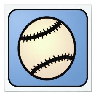 Cumpleaños del muchacho del guante de béisbol de invitación 13,3 cm x 13,3cm