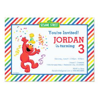 Cumpleaños del neutral de Elmo Invitación 12,7 X 17,8 Cm