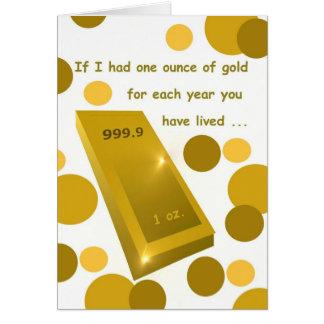 Cumpleaños del oro viejo, humor tarjeta de felicitación
